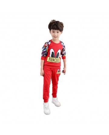 2017 Spring boys' cartoon printed pant sets