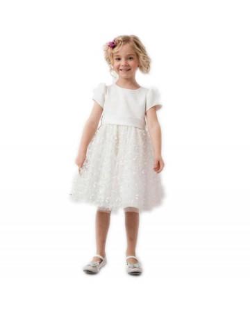 Small bow girls short sleeve dress