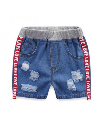 New 2017 boys hue denim short ribbon denim shorts