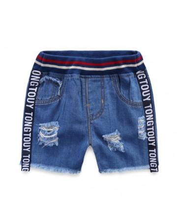 New 2017 summer  boys hue denim short black ribbon denim shorts
