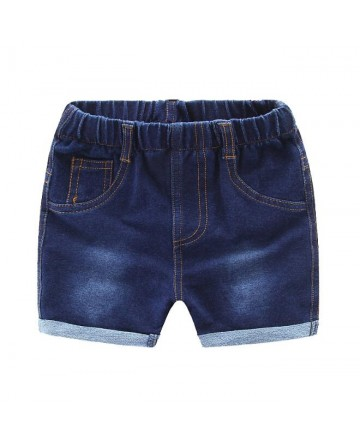 New 2017 summer girls denim short simple blue jeans