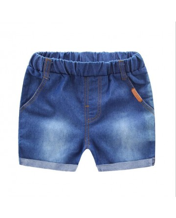 New 2017 summer girls simple hue denim short