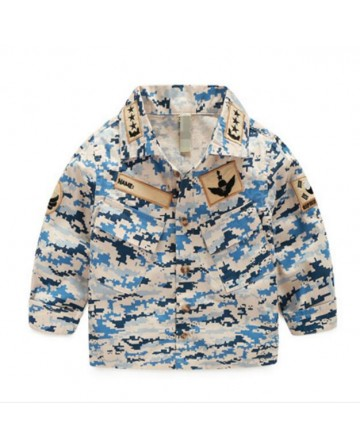 New children's long sleeves camouflage shirt