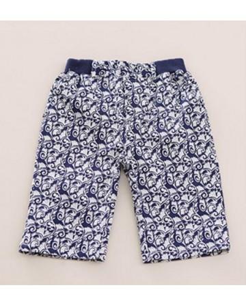 2017 boys summer  printed shorts fashion casual beach pants