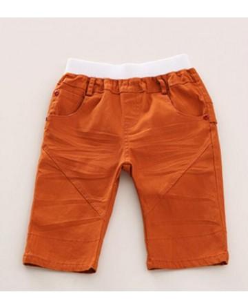 new 2017 summer kids cotton orange shorts