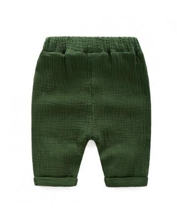 2017 Summer boys' linen wrinkled shorts fashion Harlun-pants