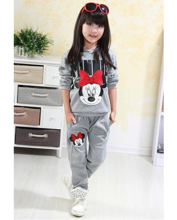 Girl cartoon 'mickey' cotton sports set