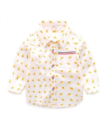 Spring Boy's Cartoon Print Shirt