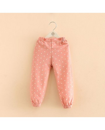 Girls wave point ankle-length pants