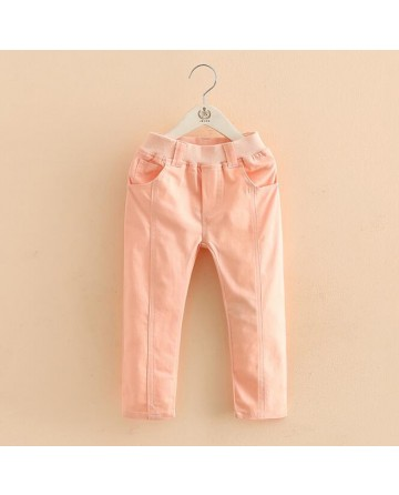 Girl candy color Slim trousers
