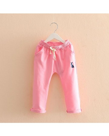 "Girl embroidery ""rabbit"" harem pants"