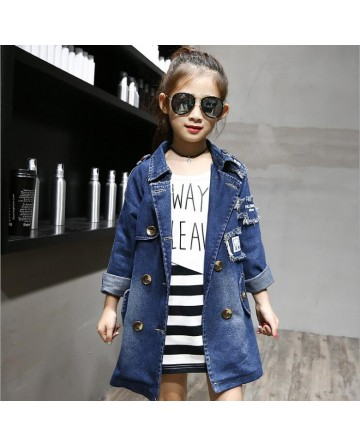 2017 Spring girls patch denim jacket
