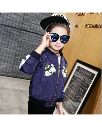 2017 New girls' fashion embroidery flower jackets