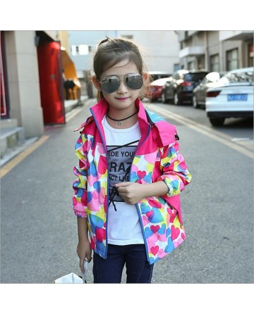 2017 New girls' casual print hooded Jackets