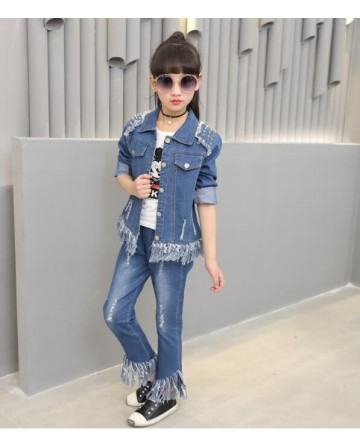Girl's fashion lapel Liu Ding shoulder tassel cowboy sets