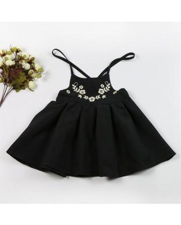 Girl's harness embroidery princess skirt