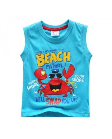 Kids Boy's crab print tank top