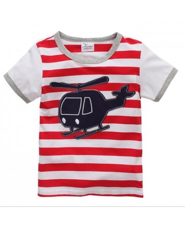 Kids Boy's patch helicopter short sleeve t-shirt