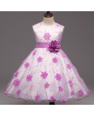 Girl's fashion flower princess dress