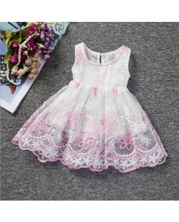 Girl's embroidered flower jumper Dress
