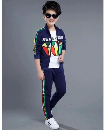 boy's 'diamond' print sports suit