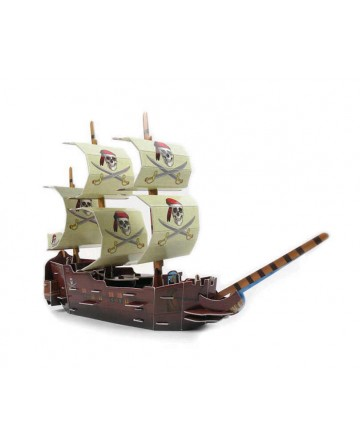 Pirates of the Caribbean Series 3D puzzle Boat children's puzzle toys