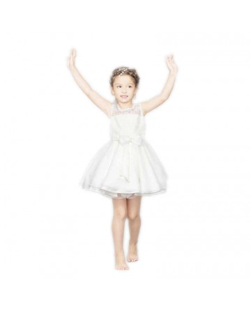 Fashionable Girls Sleeveless Puff Yarn Dress