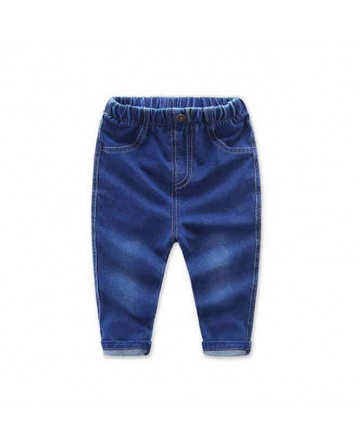 2017 Spring boys straight  jeans kids hue elastic denim pants