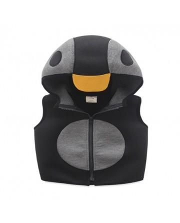 2017 spring kids penguin appearance hoodies vest.