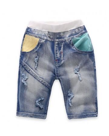 2017 Summer boys break denim shorts