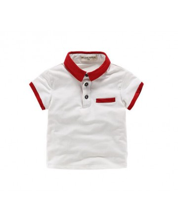 Summer boy's lapel short sleeve t-shirt