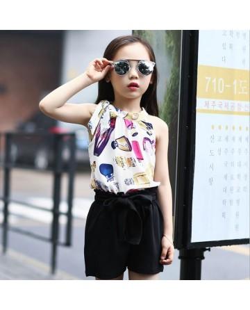 2017 Summergirls fashion printed short sets