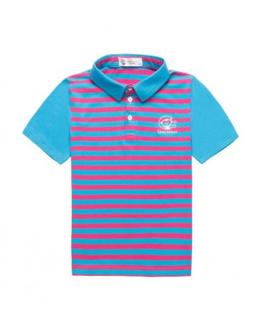 children's striped  short-sleeved Polo shirt