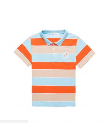 boys Summer short-sleeved striped POLO shirt