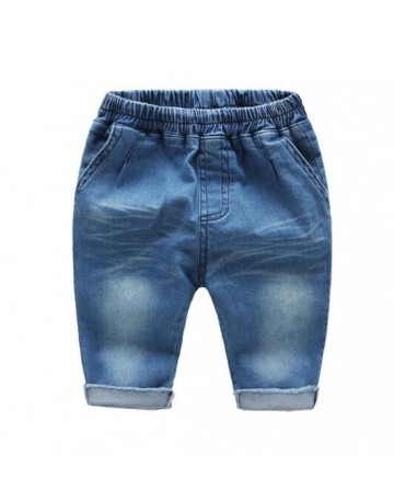 Summer boys thin section cotton capri pants,denim shorts