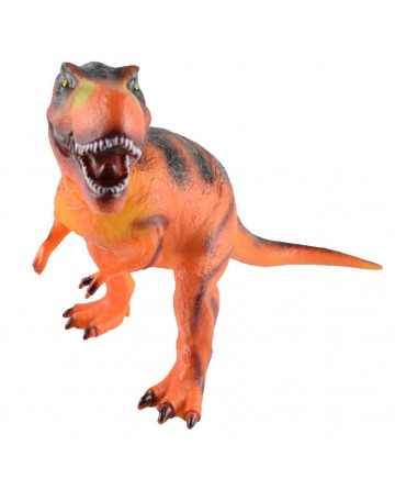 Jurassic simulation of large rubber dinosaur model, Tyrannosaurus rex model