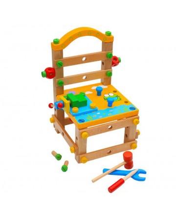 Children's building blocks dismantling chairs