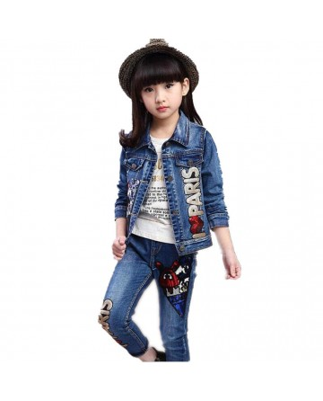 girl's sequins cowboy two-piece set
