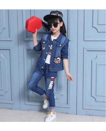 Girl's new cartoon mouse letter cowboy suit