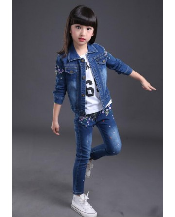 Girls small floral cowboy leisure sets