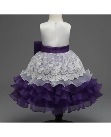 2017 New girls big bow embroidery skirt