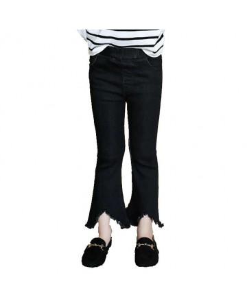 2017 spring girls' open elasticity sim jeans