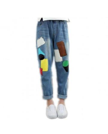 2017 Spring girls graffiti jeans