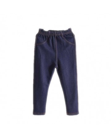 Spring girls' blue simple stretch jeans