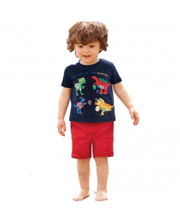 kids summer cotton cartoon short-sleeved t shirt