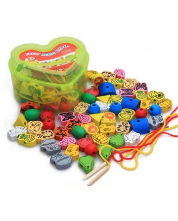 Children's bead blocks toys