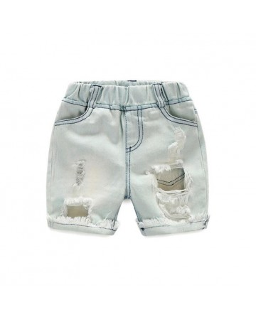 New summer boys hole denim shorts